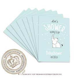 Fill & Send Babyshower uitnodigingen FBS002 (pakket 8 stuks)