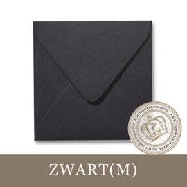 Parelmoer envelop - Zwart