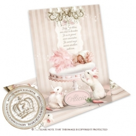 Sprookjes Geboortekaartje GB439 Pink