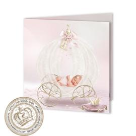 Sprookjes Geboortekaartje GB276 FC2 Pink