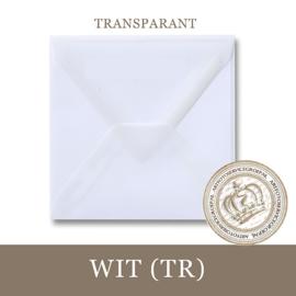 Transparante envelop - Wit
