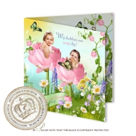 Sprookjes Geboortekaartje GB186 FC2 Pink