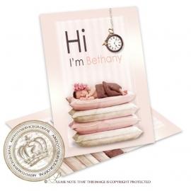 Sprookjes Geboortekaartje GB855 Pink