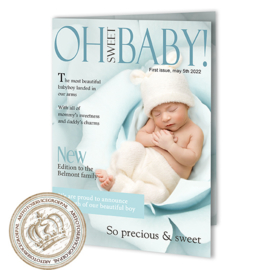 Baby Magazine cover GB386 FC2 Blue