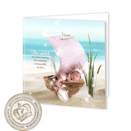 Sprookjes Geboortekaartje GB018 FC2 Pink