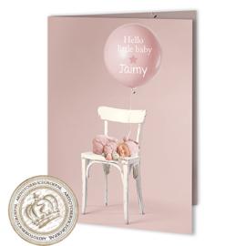 Sprookjes Geboortekaartje GB044 FC2 Pink