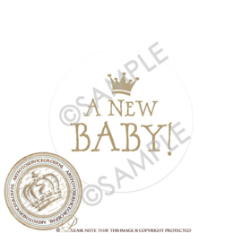 Sluitzegel Geboortekaartje SLZ001