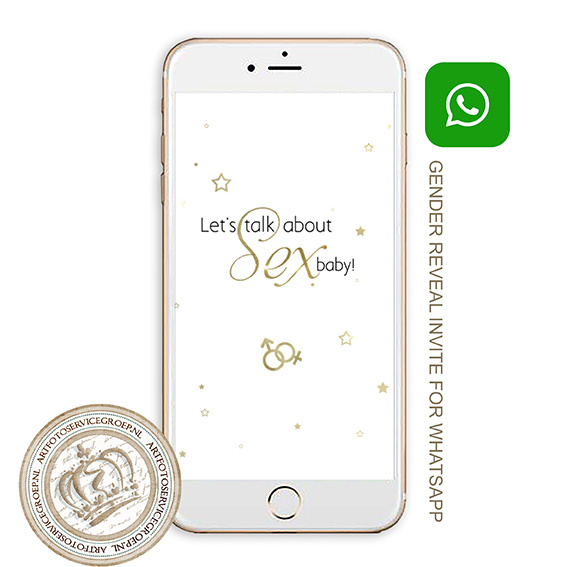 Whatsapp Invite - Gender reveal (Engels) WR790E