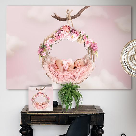 Digitale Droomfoto - The flower swing