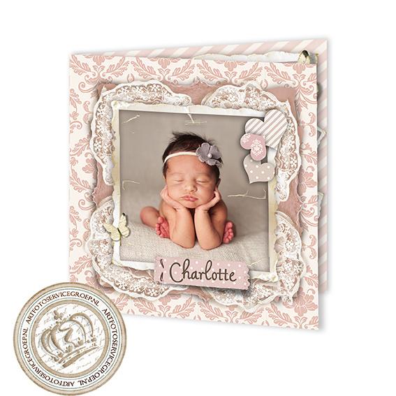 Foto Geboortekaartje LG026 FC2 Pink