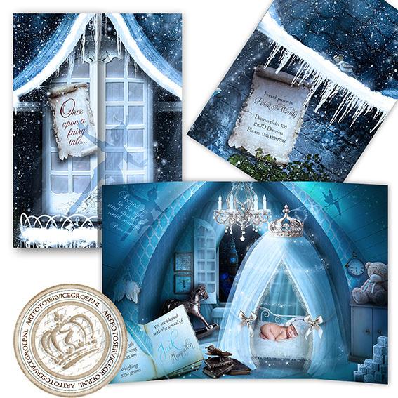 Sprookjes Geboortekaartje GB648 DD Blue