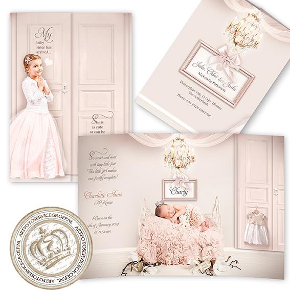 Sprookjes Geboortekaartje GB165 DD Pink