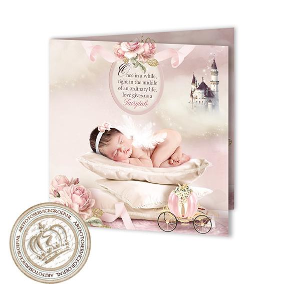 Sprookjes Geboortekaartje GB268 FC2 Pink