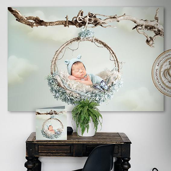 Newborn Backdrop Art Foto