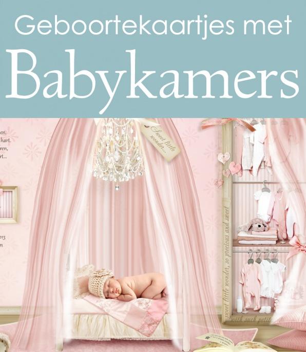 Geboortekaartjes van een baby kamer