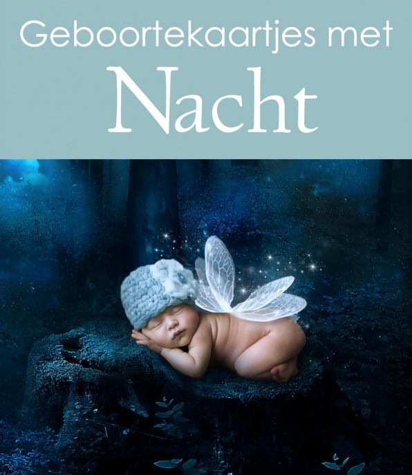 Geboortekaartjes bij nacht