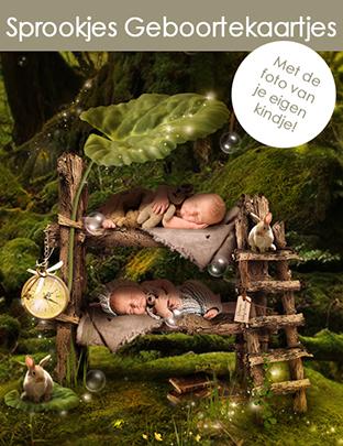 Sprookjes Geboortekaartjes met eigen foto