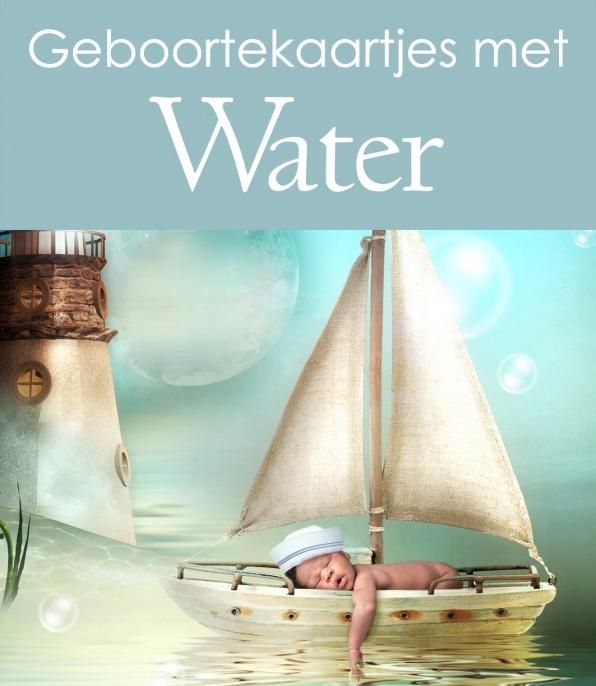 Geboortekaartjes met water