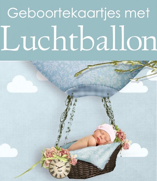 Geboortekaartjes met een luchtballon