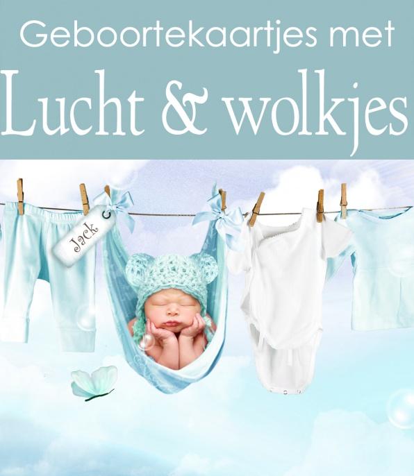 Geboortekaartjes met wolkjes