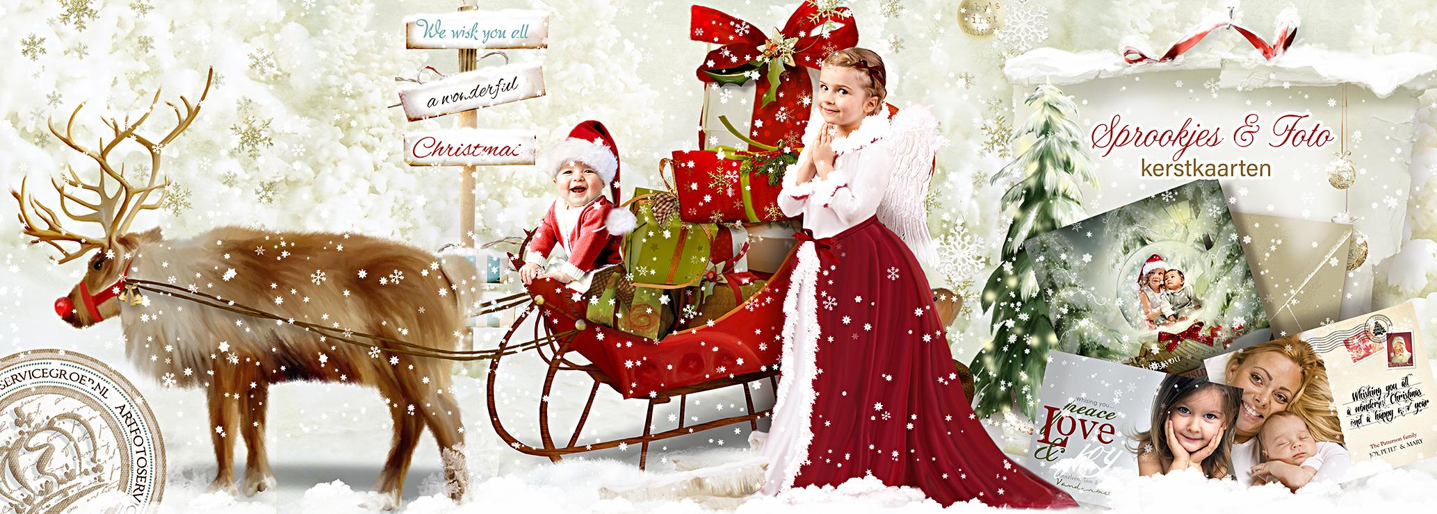 Sprookjes & Foto kerstkaarten, met je eigen foto