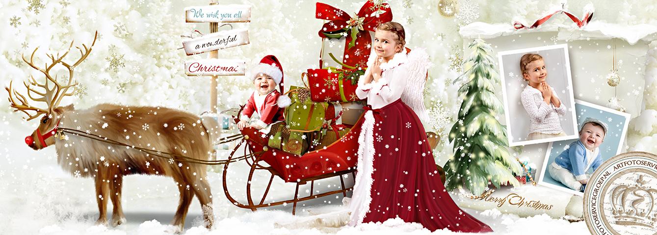 Sprookjes Kerstkaarten met eigen foto