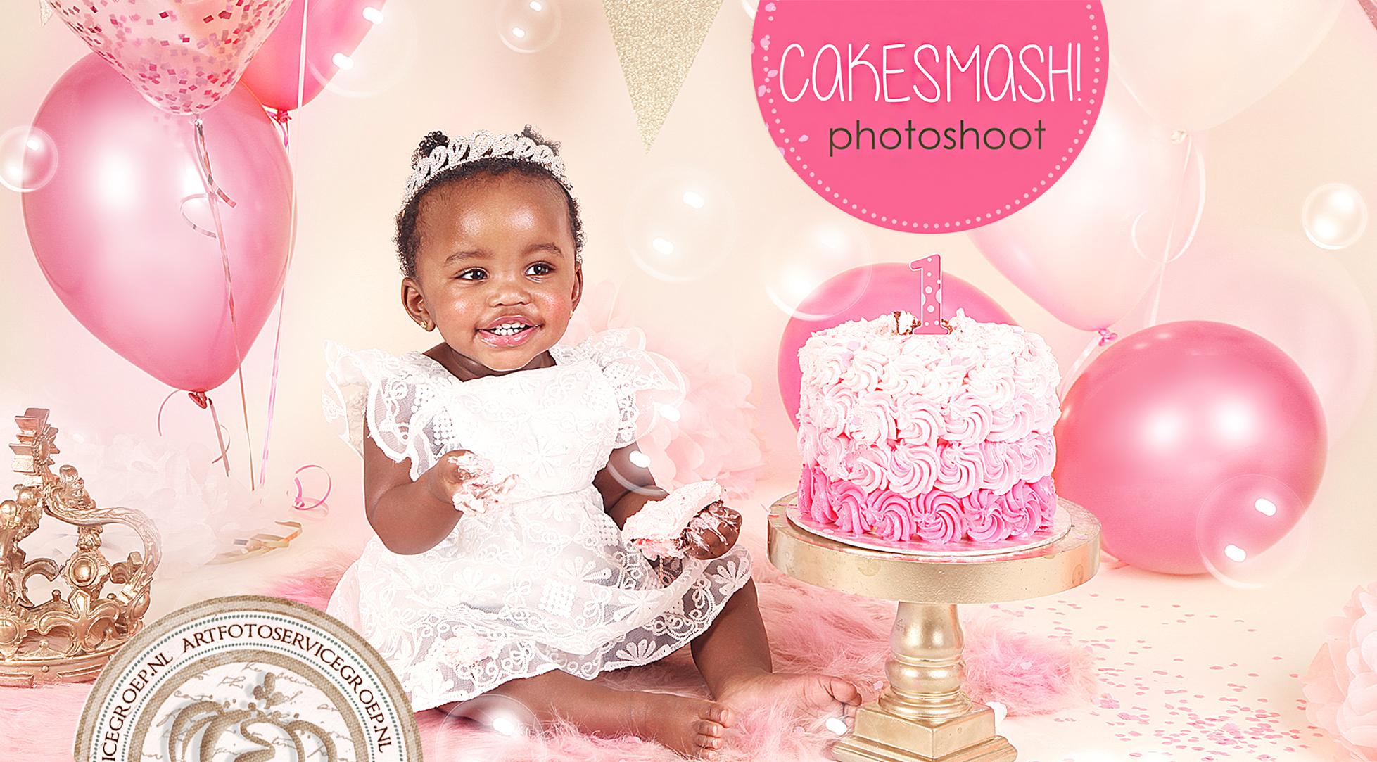Wonderlijk Cake Smash Photoshoot | Sprookjes geboortekaartjes met foto RZ-31