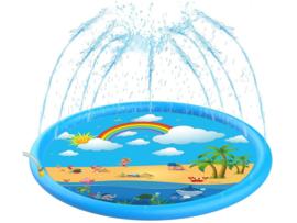 Speel mat met waterfontein