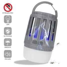 Campinglicht met muggenlamp en LED lamp