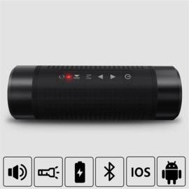 Outdoor Bluetooth speaker met zaklamp en powerbank