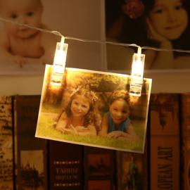 Lichtsnoer met LED knijpers