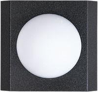 666116 Aluminium Wandlamp
