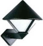 660616  Aluminium Wandlamp
