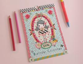 Meisje Illustratie Collage GOSI BIRTHDAY CALENDAR verjaardagskalender
