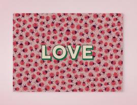 LOADS OF LADYBUGS LOVE lieveheersbeestjes postkaart