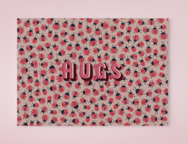 LOADS OF LADYBUGS HUGS lieveheersbeestjes postkaart