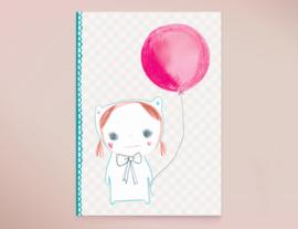 Ballon Popje Illustratie FIFINELLE wenskaart
