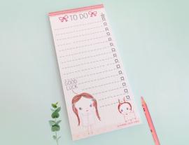 Meisje Illustratie KACY TO DO notitieblok