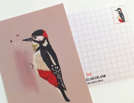 Vogel Illustratie BIRDIES postkaarten - set van 5