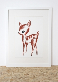 Hertje Illustratie DEER FROM THE FOREST zeefdruk in oplage - A4 formaat