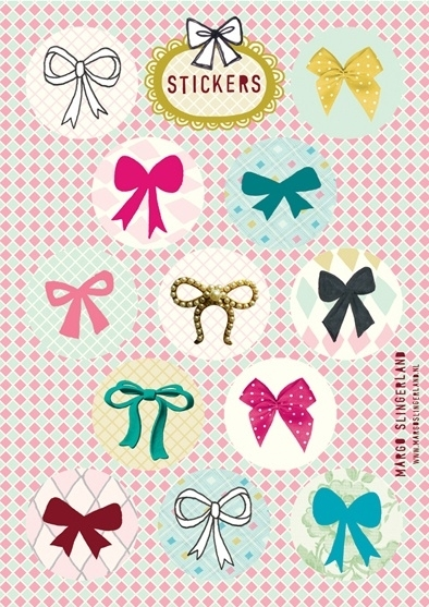 SWEET BOWS strikjes stickervel