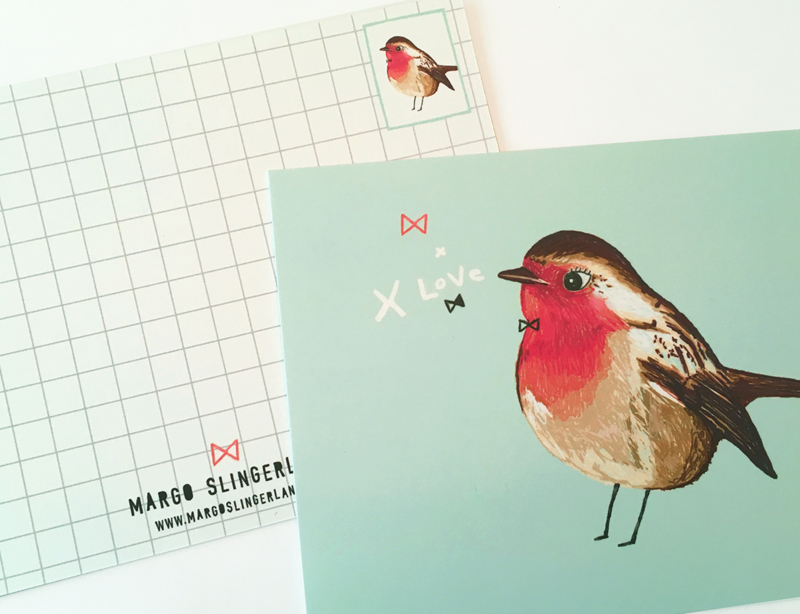 Vogel Illustratie BIRDIES postkaarten - set van 3