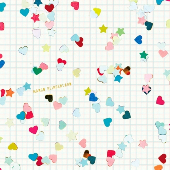 HEARTS AND STARS CONFETTI dessin cadeaupapier