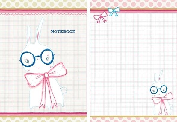 Konijn Illustratie BOWIE BOOK ringband notitieboekje