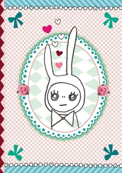 Konijn Illustratie RABBIT IN LOVE wenskaart