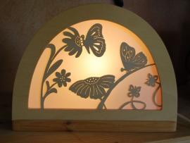 Vlinder bloemen silhouet