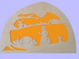 De wolf en de 7 geitjes silhouet