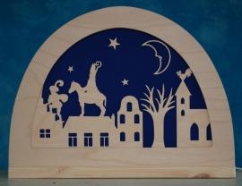 Sinterklaas silhouet groot