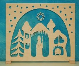 Raamdecoratie Koning Winter klein