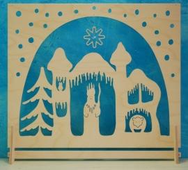 Decoratie groot Koning Winter